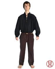 Mittelalterhose Baumwolle Herren beige braun schwarz mit Hosentasche