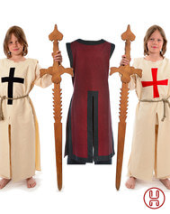 Kinder Waffenrock Templer Deutschritter