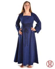 Mittelalter Kleid mit Gugel-Kapuze
