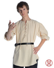 Mittelalterhemd kragenloses Bauernhemd