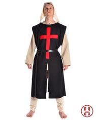 Waffenrock schwarz rotes Kreuz