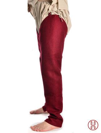 Beinlinge Wigalois rot Filz Seitenansicht