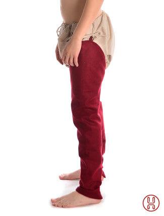 Beinlinge Wigalois rot Filz Rückansicht