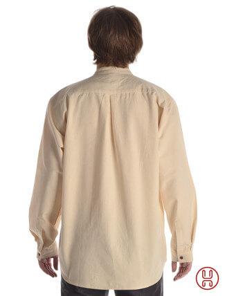 Mittelalterhemd Ache natur-beige - Rückansicht