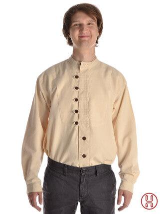 Mittelalterhemd Ache natur-beige - Frontansicht