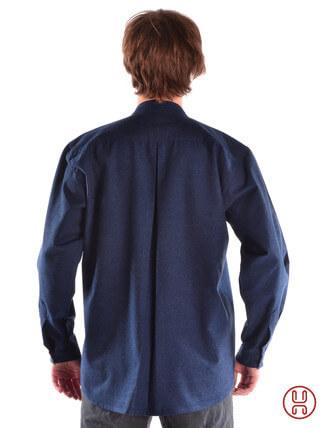 Mittelalterhemd Ache blau - Rückansicht