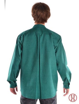 Mittelalterhemd Ache grün - Rückansicht
