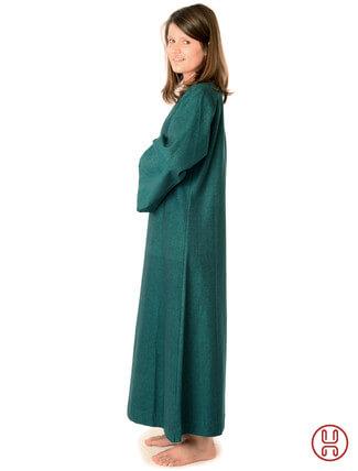 Mittelalter Unterkleid grün - Seitenansicht