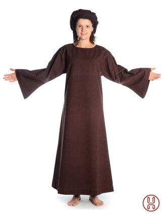 Mittelalter Unterkleid braun - Frontansicht