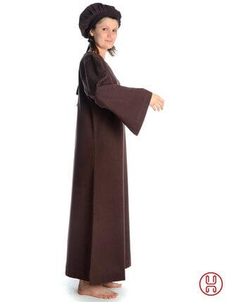 Mittelalter Unterkleid braun - Seitenansicht