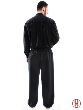Bundhose lang schwarz - Rückansicht
