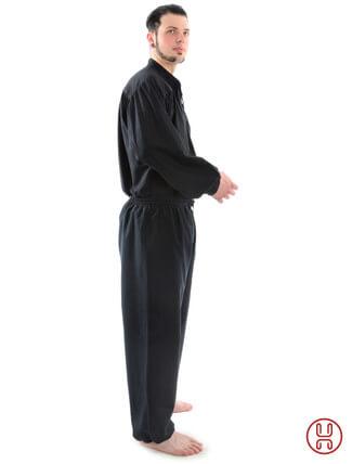 Bundhose lang schwarz - Seitenansicht