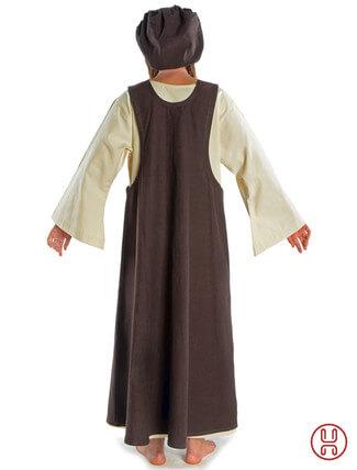 Mittelalter Überkleid in braun - Rückansicht