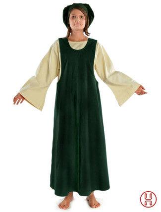 Mittelalter Überkleid in grün - Frontansicht