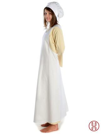Mittelalter Überkleid in weiss - Seitenansicht