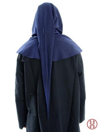 Gugel aus reiner und fester Baumwolle in blau - Rueckansicht
