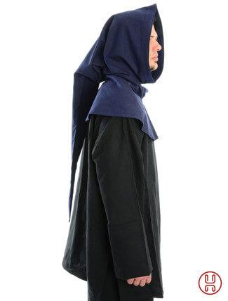 Gugel aus reiner und fester Baumwolle in blau - Seitenansicht
