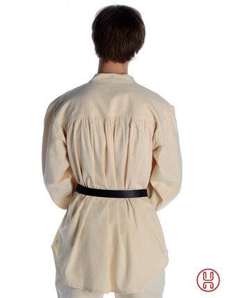 Mittelalter Hemd Schnürhemd in natur-beige - Rückansicht