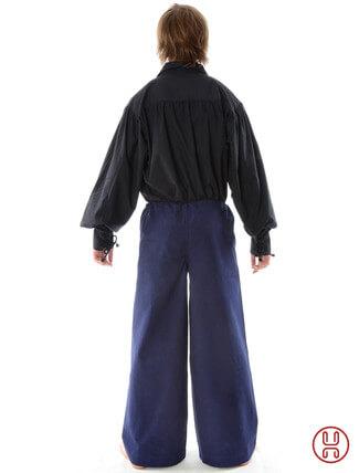 Mittelalter Hose zum Schnüren blau - Rückansicht