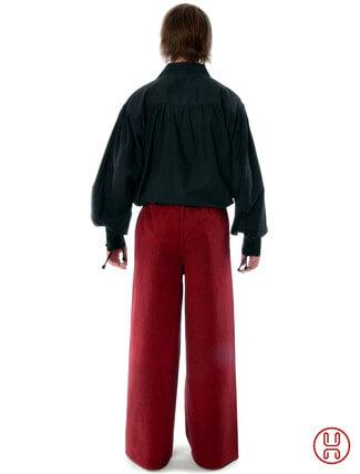 Mittelalter Hose zum Schnüren rot - Rückansicht