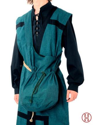 Mittealter Tasche Umhängebeutel groß grün
