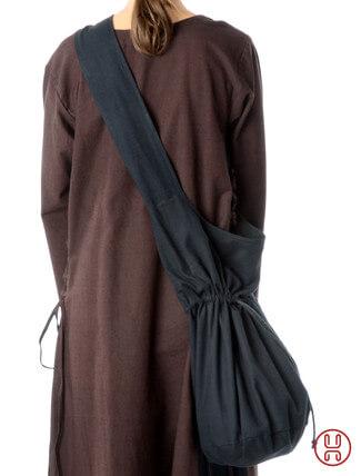 Mittealter Tasche Umhängebeutel groß schwarz