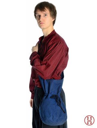 Mittealter Tasche Umhängebeutel groß blau