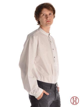 Mittelalterhemd Isar Pfoat in weiss - Seitenansicht