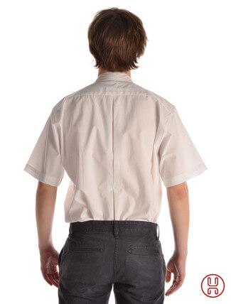 Kurzarm Mittelalterhemd in weiss - Rückansicht