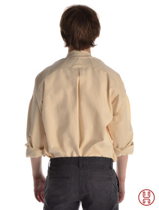 Mittelalter Hemd Typ Loisach natur-beige - Rückansicht