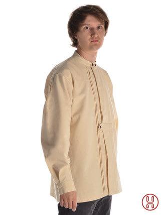 Mittelalter Hemd Typ Loisach natur-beige - Seitenansicht
