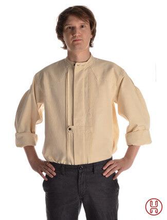 Mittelalter Hemd Typ Loisach natur-beige - Frontansicht