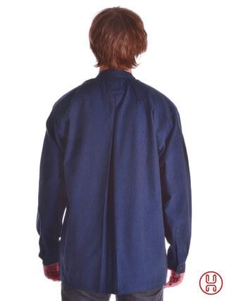 Mittelalter Hemd Typ Loisach blau - Rückansicht