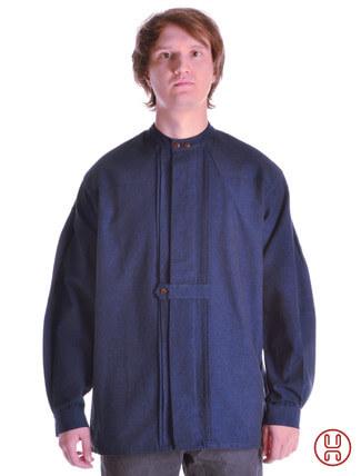 Mittelalter Hemd Typ Loisach blau - Frontansicht