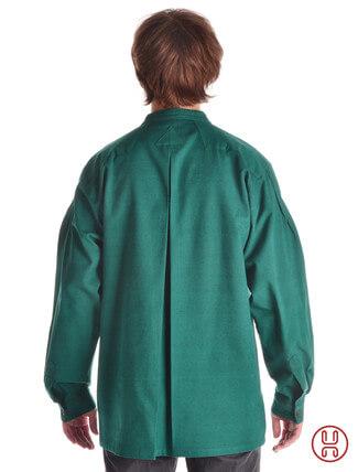 Mittelalter Hemd Typ Loisach grün - Rückansicht