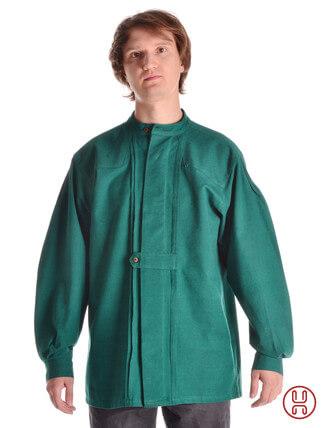 Mittelalter Hemd Typ Loisach grün - Frontansicht