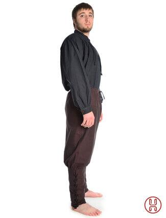 Wikingerhose Rushose in Baumwolle braun - Seitenansicht