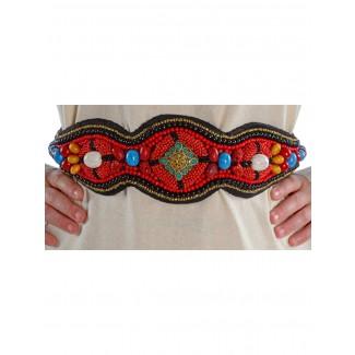 Mittelalter Gürtel Itonje aus Baumwolle in Rot Frontansicht