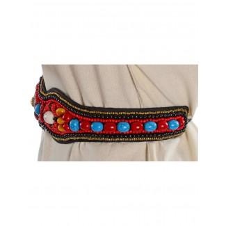 Mittelalter Gürtel Itonje aus Baumwolle in Rot Seitenansicht