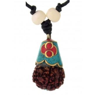 Mittelalter Halskette Ade aus Messing in Goldgelb Frontansicht