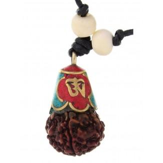 Mittelalter Halskette Ade aus Messing in Goldgelb Frontansicht 2