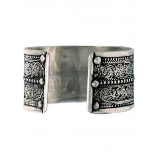 Mittelalter Armreif Melusine aus Weißmetall in Silbern Rückansicht