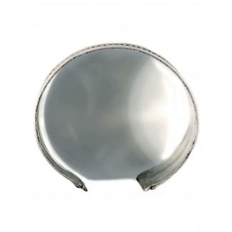 Mittelalter Armreif Melusine aus Weißmetall in Silbern Seitenansicht