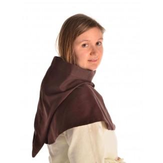 Mittelalter Kapuze Elida in Braun Seitenansicht 2