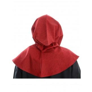 Mittelalter Kapuze Elida in Rot Rückansicht
