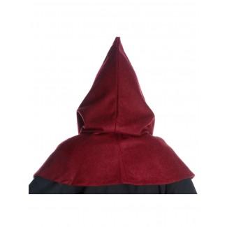 Mittelalter Kapuze Anfole in Rot Rückansicht