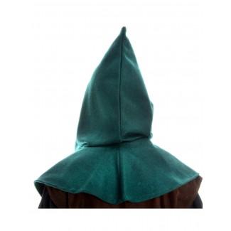 Mittelalter Kapuze Biterolf in Grün Rückansicht