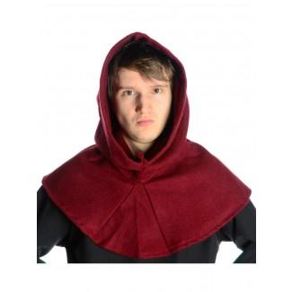 Mittelalter Gugel Dietleib in Rot Frontansicht