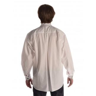 Mittelalter Hemd Iwein in Weiß Rückansicht