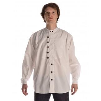 Mittelalter Hemd Iwein in Weiß Frontansicht